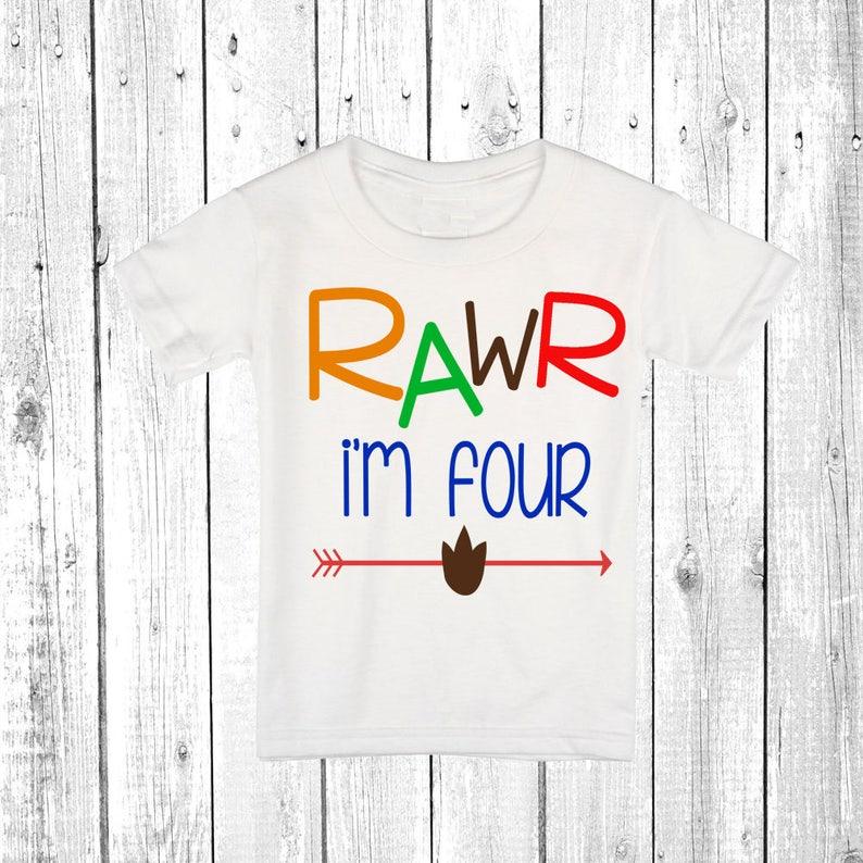 Four Shirt 4th Birthday Boy Boys
