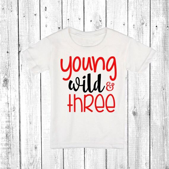 Wild And Three Shirt 3rd Birthday Boy