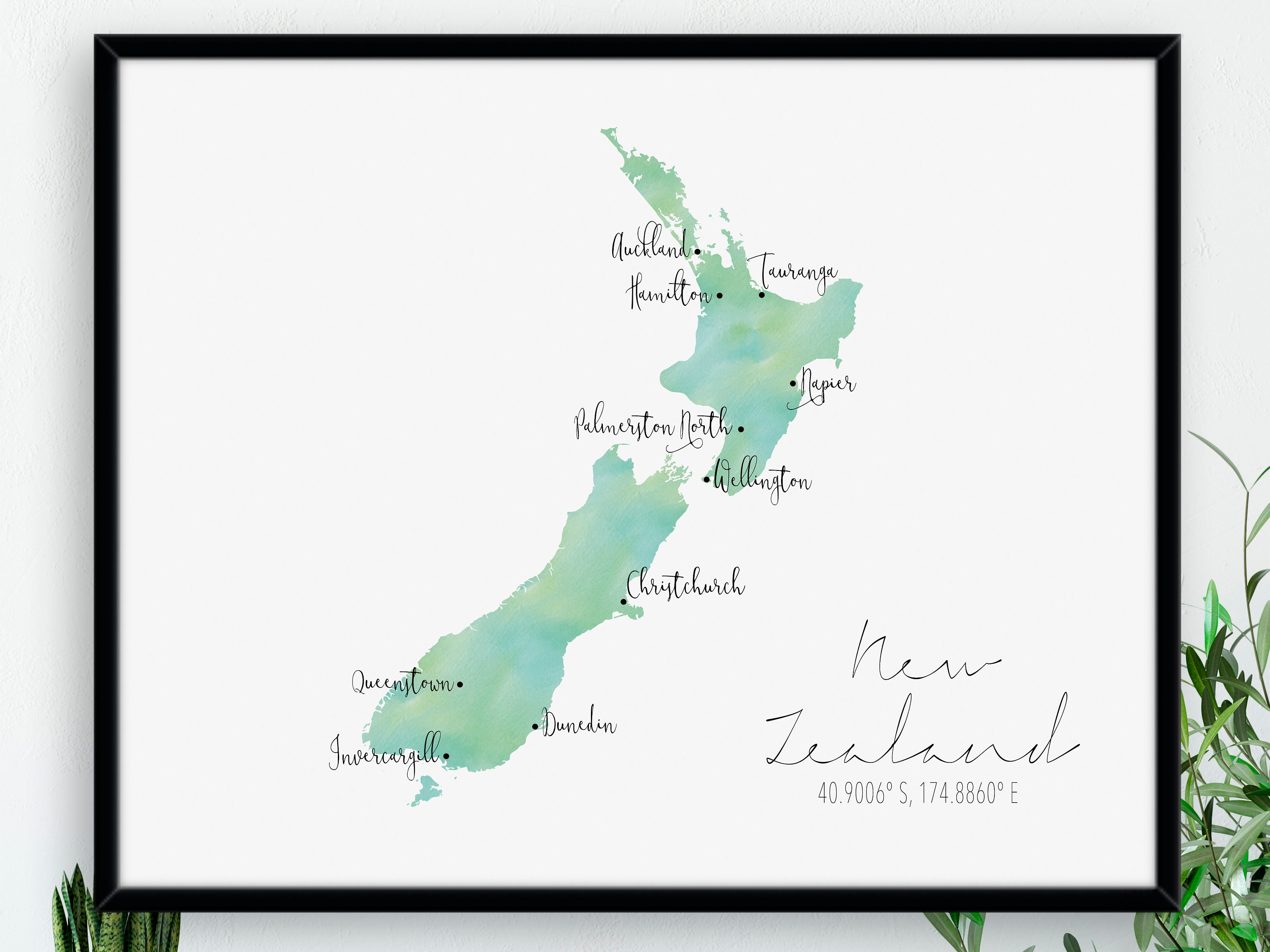 Vanuatu Map Square  Labelled Watercolour  Digital or Printed Wall Art  Large Map Poster  Gift Idea  Giclee Print  Home Decor