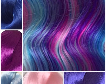 Nylon Doll Hair, Custom Color Blend, Fairyberry, Tress, Rerooting