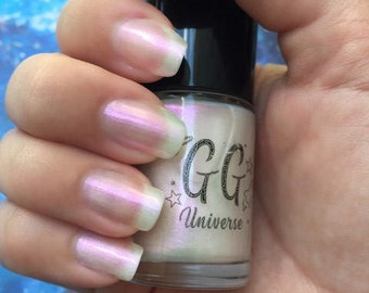 Unicorny - White Iridescent Nail Polish with Pink Shimmer