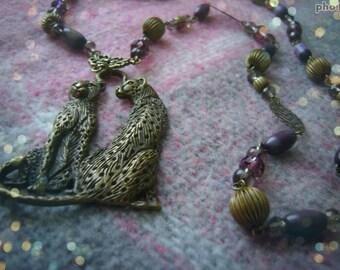 NECKLACE #CATS# vintage necklace, vintagestyle, bohostyle