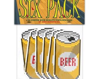 Six Pack Sticker Set