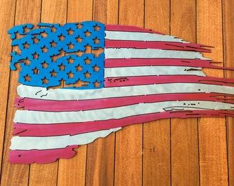 Tattered American Flag