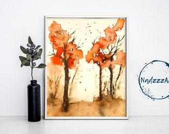 Landscape Watercolor Print