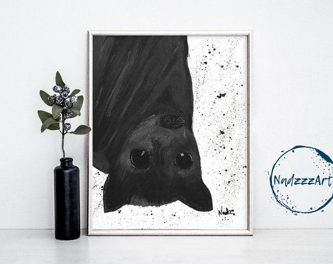 BAT Watercolor Print
