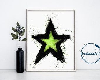 STAR Watercolor Print.