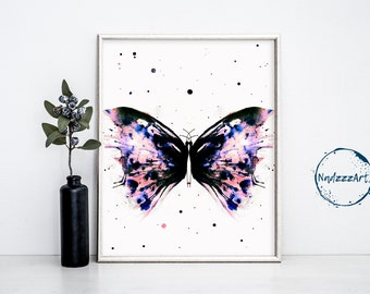 BUTTERFLY Watercolor Print
