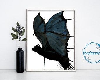 BAT Watercolor Print.
