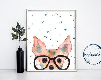 Chihuahua Watercolor Impression