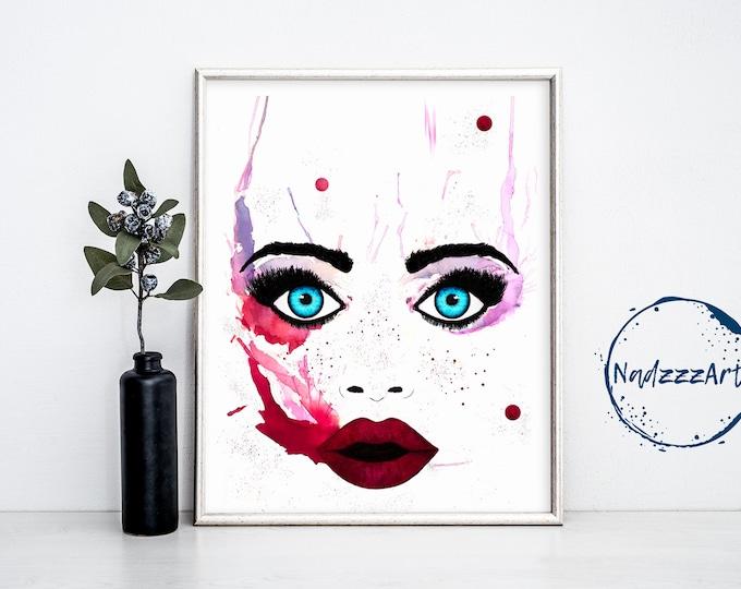 Underwater Watercolor Print