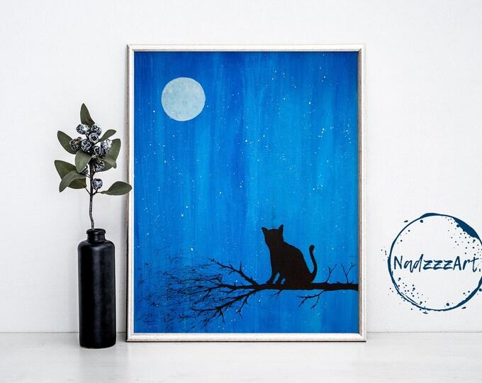 Moonlight Watercolor Print
