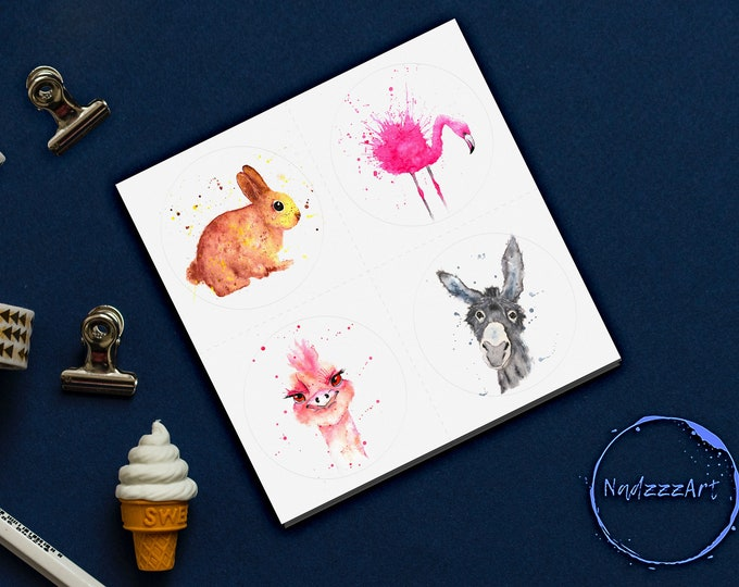 CUTE watercolor stickers.
