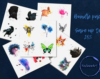 Watercolor Sticker Sets of your choice.