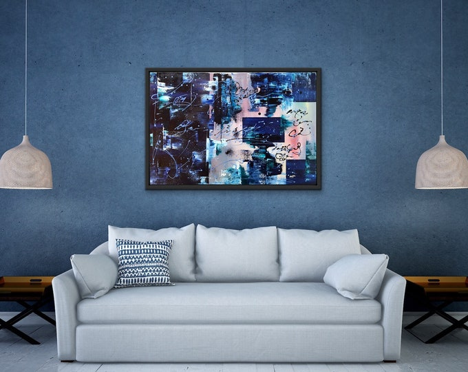Abstract painting 36x24 made on artist canvas.