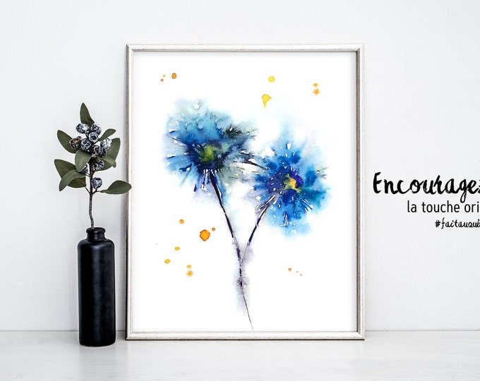 Watercolor Print FLOWERS