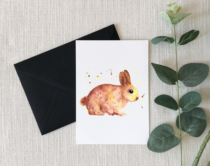 Bunny Watercolor Greeting Card
