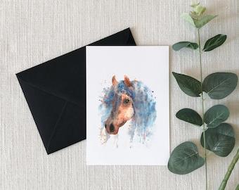 Horse Watercolor Greeting Card