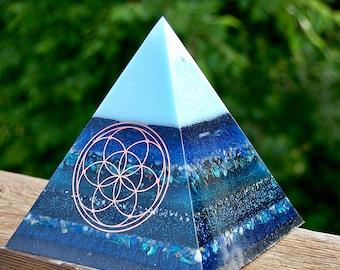 XL Pink Orgonite Pyramid
