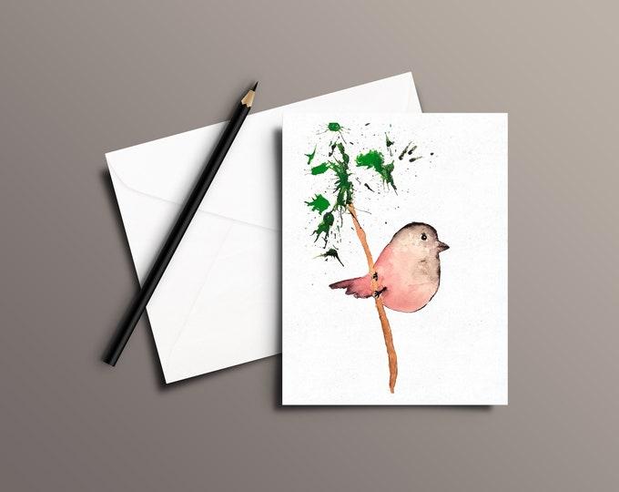 BIRD Watercolor Greeting Card