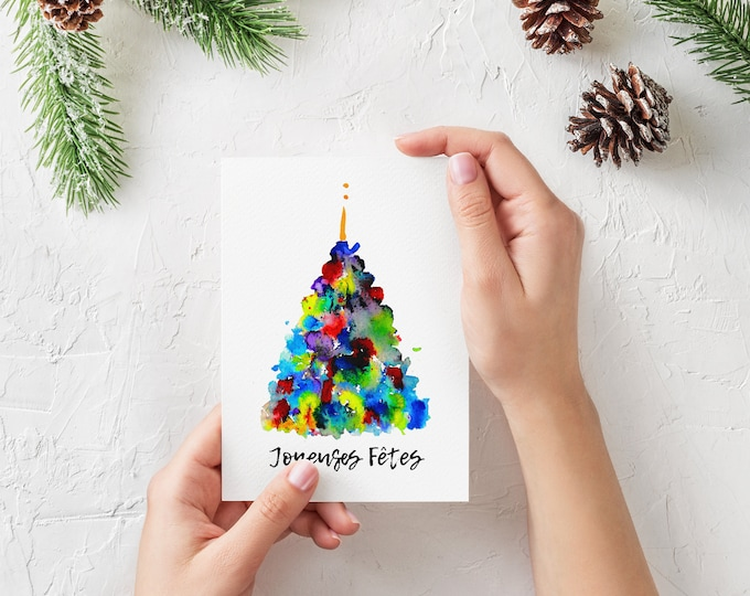 Watercolor Christmas card.