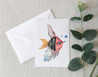FISH Watercolor Greeting Card