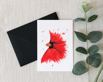 Cardinal Watercolor Greeting Card