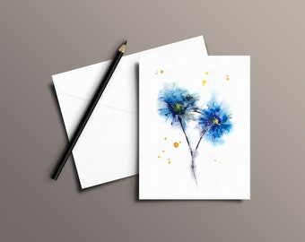 FLOWER Watercolor Greeting Card