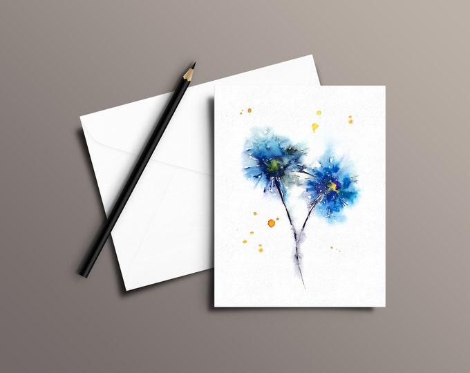 FLOWER Watercolor Greeting Card