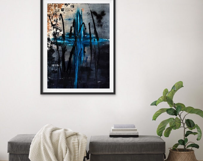 Toile abstraite 18x24 pouces sur canvas Artiste