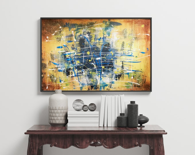 Abstract painting 18 x 24 made on canvas.
