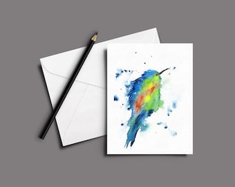 BIRD Watercolor Greeting Card