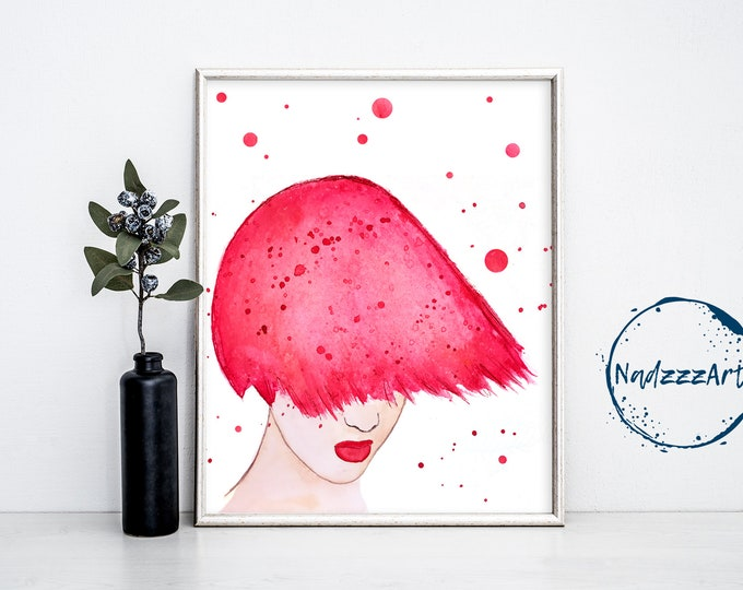 Pink Watercolor Print