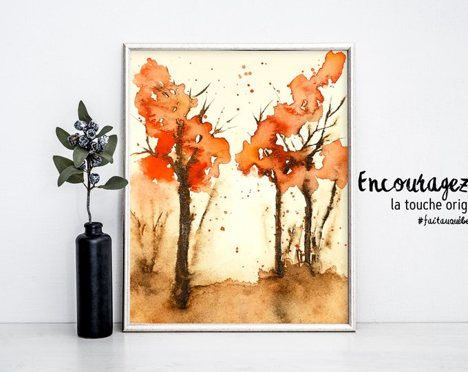 Landscape Watercolor Print