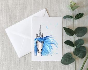 Unicorn Watercolor Greeting Card