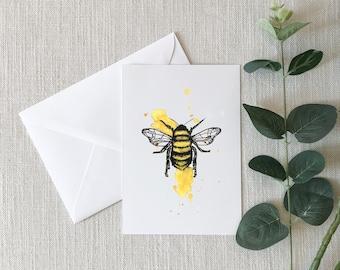 BEE Watercolor Greeting Card