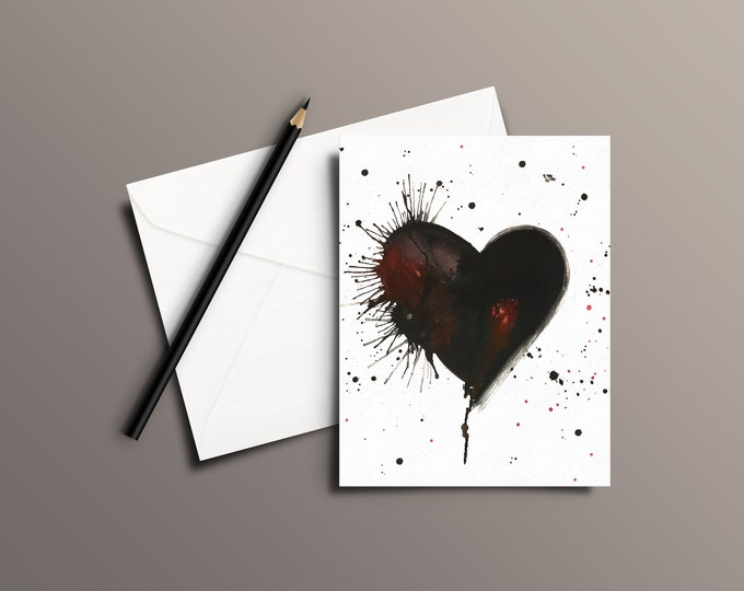 HEART Watercolor Greeting Card