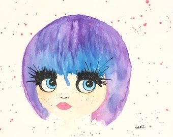 Original watercolor 9x12 on watercolor paper 140lbs