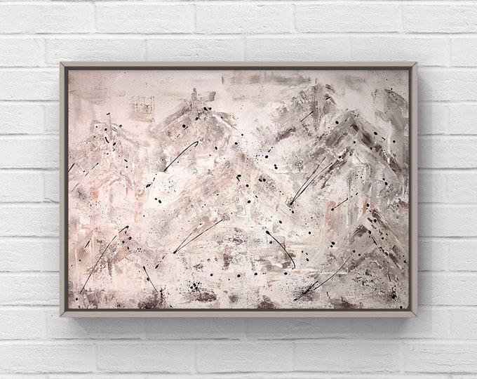 Acrylique abstraite 24x36 sur canvas.