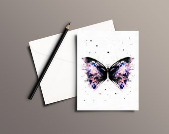 Butterfly Watercolor Greeting Card