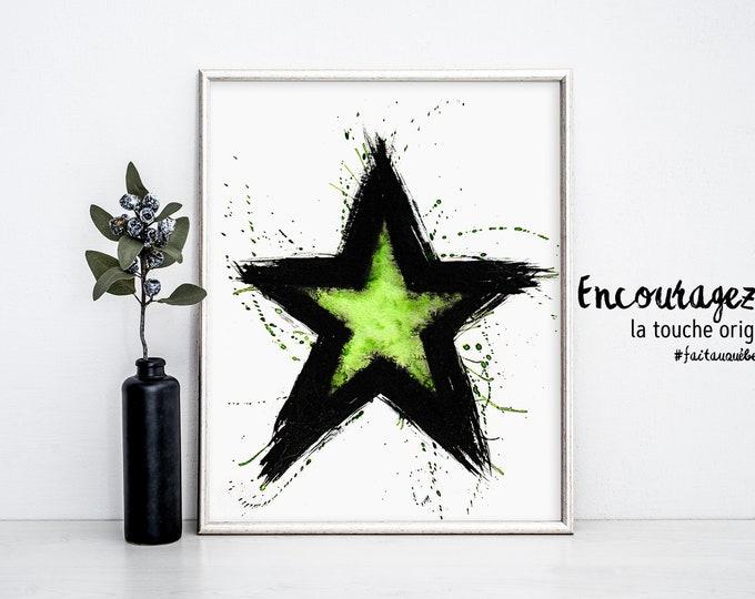 STAR Watercolor Print.