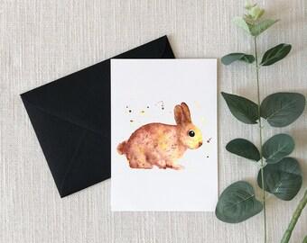 Bunny Watercolor Greeting Card
