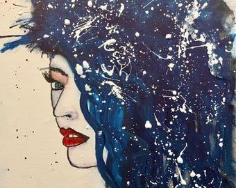 Watercolor 11 x 14 Canvas panel / LEAK canvas Panel