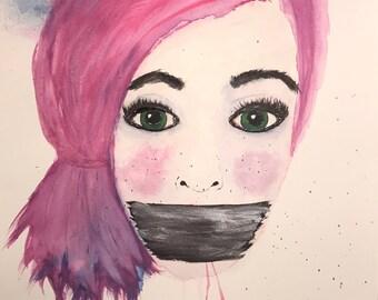 Original watercolor 11x14 on paper.