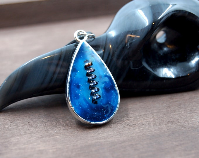 Blue Industrial Necklace