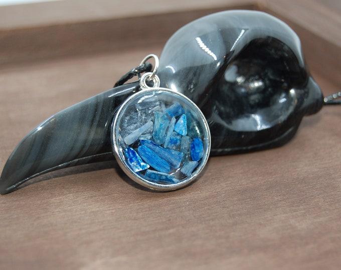 Kyanite circle necklace
