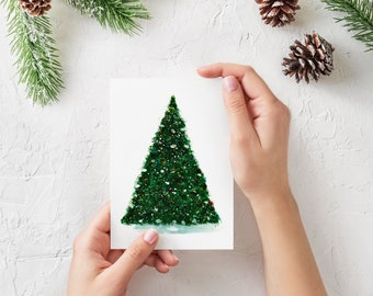 Christmas watercolor card.