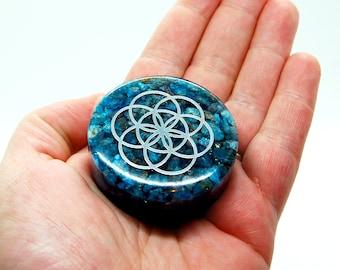 Blue Apatite creativity puck