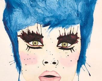 Original watercolor 11x14 on watercolor paper 140lbs