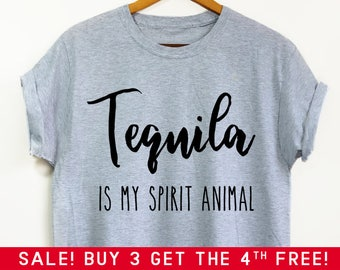 Tequila Is My Spirit Animal shirt - Tequila Shirt, Tequila, Funny Shirt, Funny Tequila shirt, Tacos and tequila, Mom Life shirt, Mom shirt